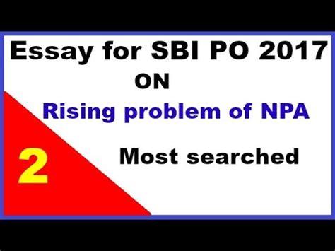 Expected Essay Topics for SBI PO MAINS 2018 - sbankin